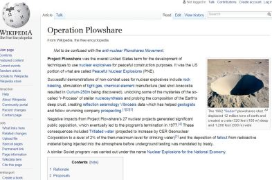 operation plowshare