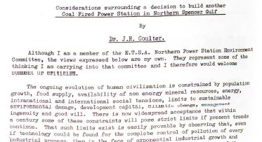 1975 considerations coal coulter tcpa