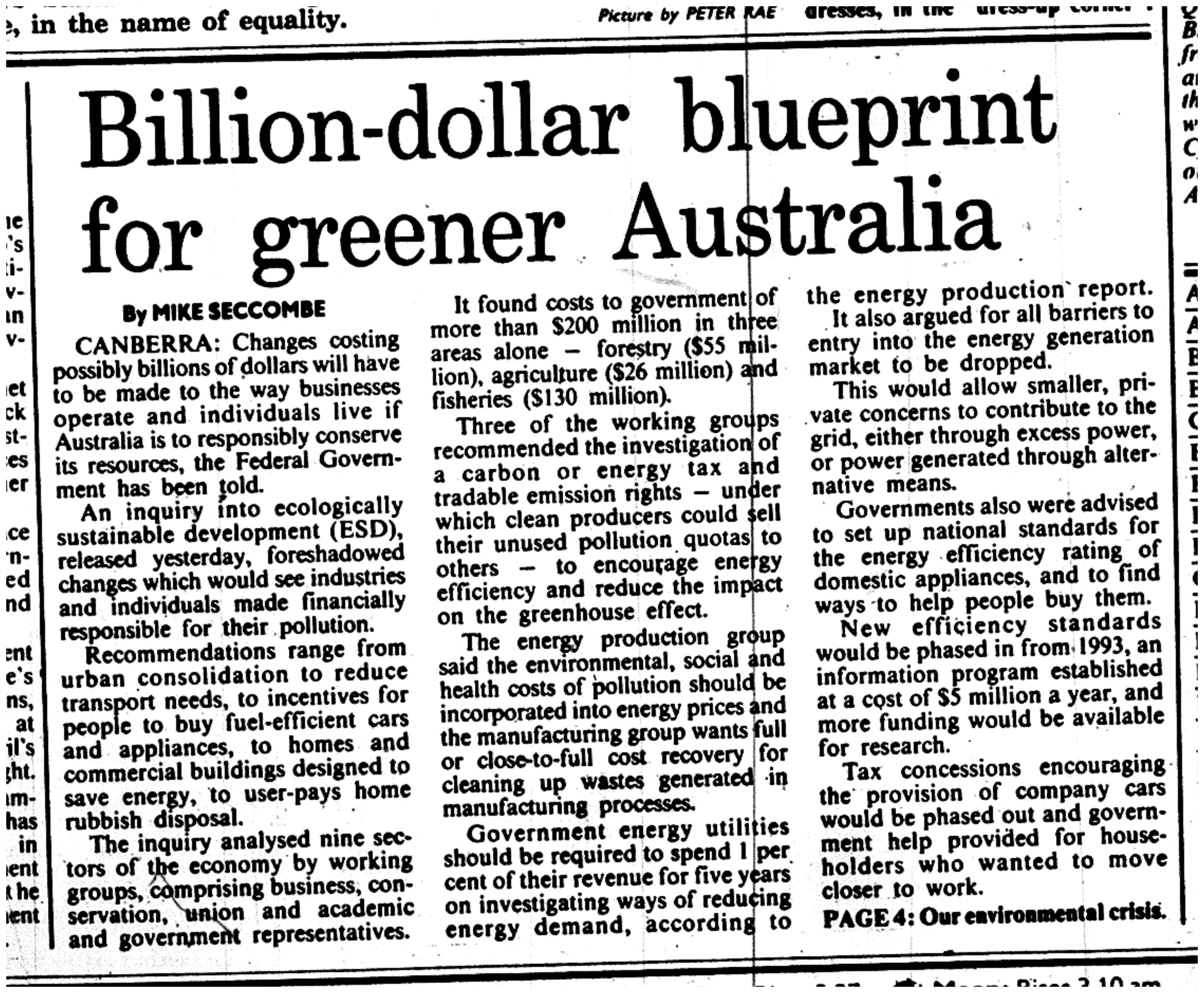 1991 12 03 blueprint for greener oz smh1.png