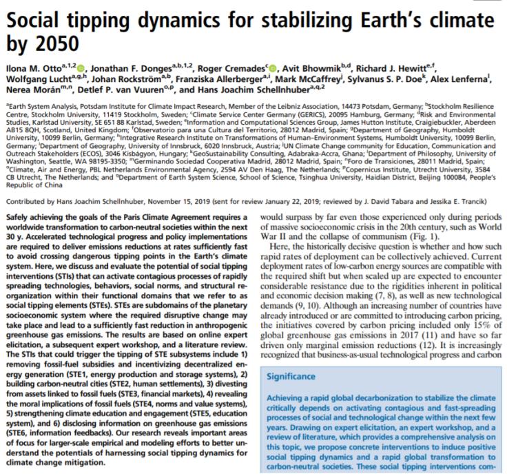 soc tipping dynamics