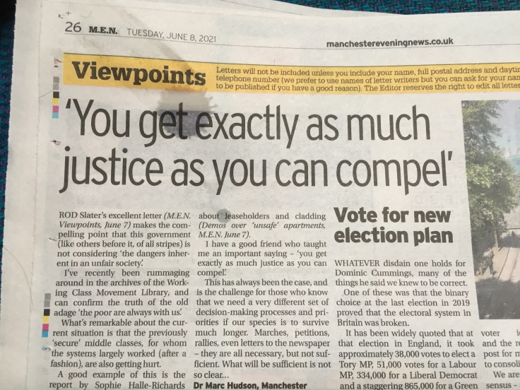 Letter justice compel
